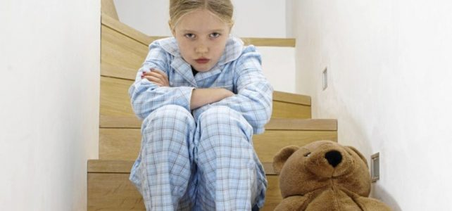 Image of girl sad sitting on steps